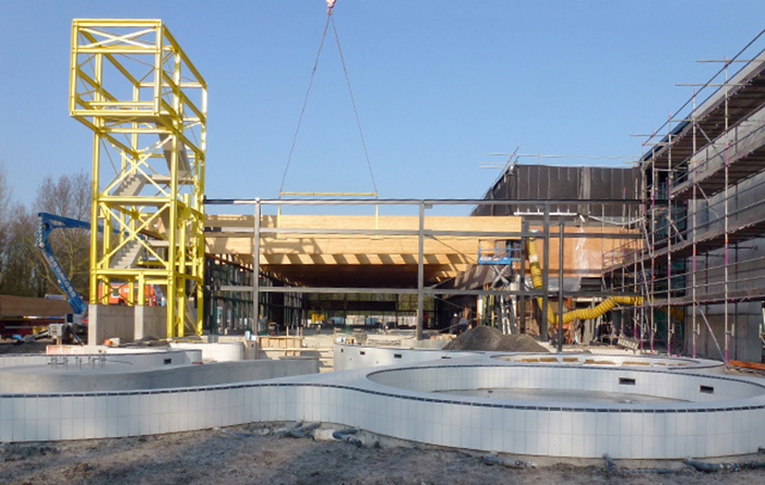 Steel structure for Aquamarijn swimming pool