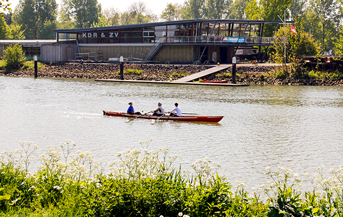 Slat canopy for rowing club